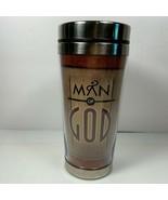 Man of God Travel Mug Dickson's Gifts Psalm 18:32 Metal & Plastic New - $4.94