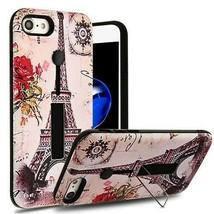 For APPLE iPhone 8/7 Paris Memory/Black Finger Grip Hybrid Case Cover - $11.07