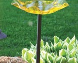 Birds Choice AAP216 Pole Mounted Yellow Acrylic Bird Bath
