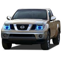 FLASHTECH for Nissan Frontier 05-08 Blue Single Color LED Halo Ring Head... - $136.22