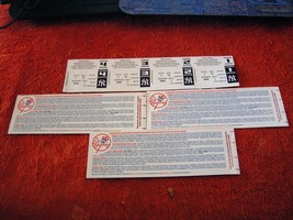 Lot Of 4 NY Yankees Ticket Receipt/Playoffs Rain Check Yankees Stadium B... - $1.99
