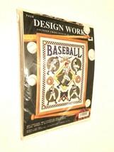 Joan Elliot Design Works Baseball Counted Cross Stitch Kit Item No. 9410 New - $21.77