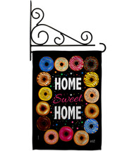 Home Sweet - Impressions Decorative Metal Fansy Wall Bracket Garden Flag... - $27.97