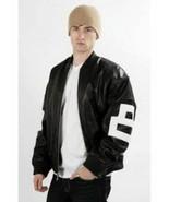 8 Ball Leather Jacket Bomber Style Black Leather Jacket - £45.19 GBP+