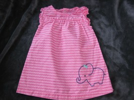 BABY JUST ONE YOU PINK NAVY BLUE ELEPHANT SPRING SUMMER DRESS RUFFLE GIR... - $11.28