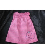 BABY JUST ONE YOU PINK NAVY BLUE ELEPHANT SPRING SUMMER DRESS RUFFLE GIR... - $11.87