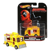 Hot Wheels Marvel Deadpool Chimichanga Truck 2/5 Real Riders Mint on Card - $11.88