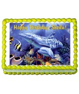 Dolphins Dolphin Party Edible Cake Image Cake Topper - $7.80
