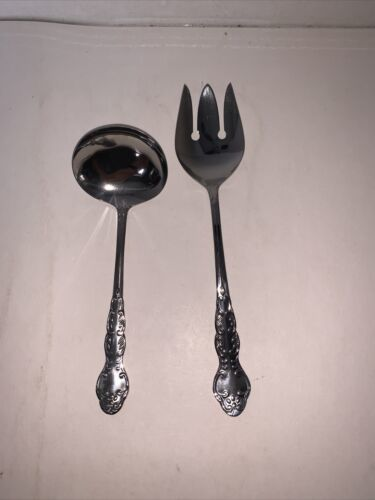 Primary image for Set Of 2 National Stainless Nancy Serving Ladle & Spork Japan