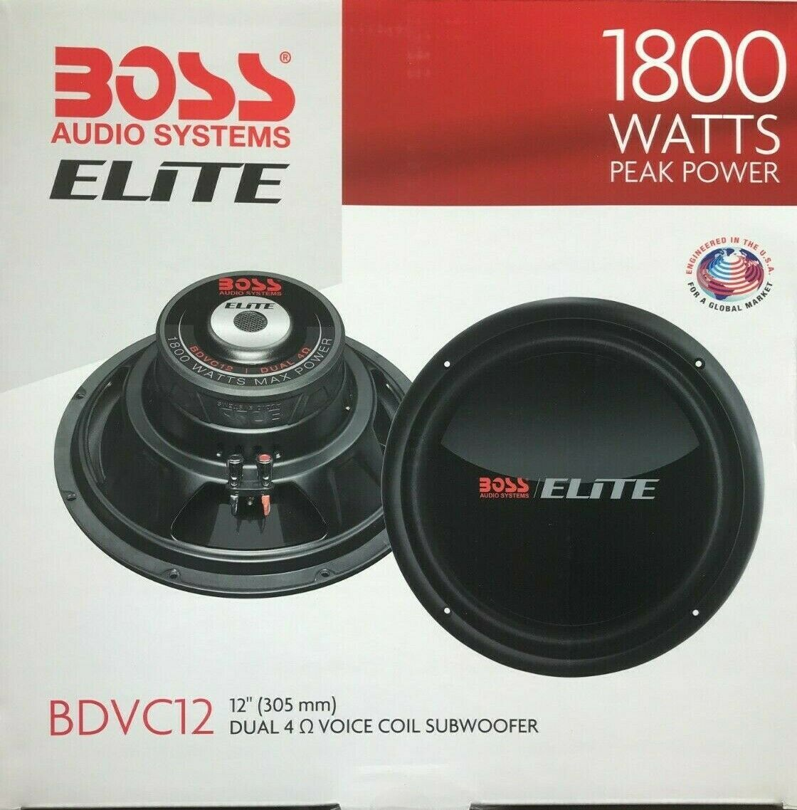 Primary image for BOSS Elite - BDVC12 - 12' Subwoofer - 1800 W - Dual Voice Coil - 4 Ohm - SINGLE