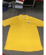 Pittsburgh Steelers Yellow Polo Golf Shirt XL Good Condition - $13.85