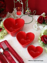 CRATE & BARREL HEART NESTING BOWLS (3) - NWT - A GREAT FIT FOR A LOVEABL... - £32.00 GBP