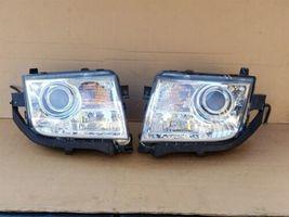 07-10 Lincoln MKX Halogen W/ AFS Headlight Lamp Set L&R  - POLISHED image 4