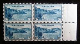 6 cent 1934 Scott # 745 Crater Lake 4 Stamp Block MNH VF OG Well Centere... - $5.93