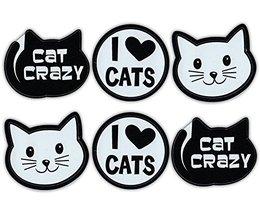 Refrigerator Magnet - Mini Cat Magnets (Set Of 6) - Cat Crazy, Love Cats... - $7.99