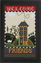 Welcome Friends Sampler Kit cross stitch kit Colonial Needle  - $36.00
