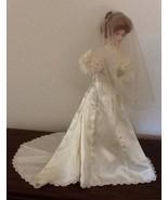 "Rare 1988 Franklin Mint Victorian Bride Gibson Doll 23"" green eyes Porce... - $150.00"