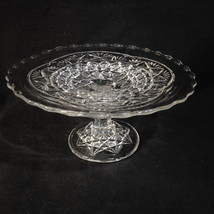 EAPG Bryce Higbee & Co 10 Pointed Star Toy Cake Stand 1905-07  3 x 6 7/8... - $28.95