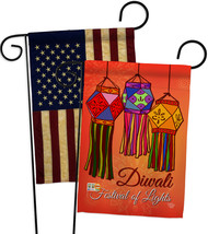 Festival Of Lights - Impressions Decorative USA Vintage - Applique Garden Flags  - $30.97