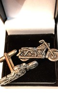triumph style pewter metal  design Cufflinks in gift box cuff links vintage new