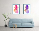 Abstract Wall Art, Prints Set of 2 Modern paint, Printable Wall Art, Digital - $1.50