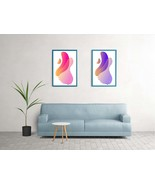 Abstract Wall Art, Prints Set of 2 Modern paint, Printable Wall Art, Digital - $3.00
