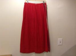 Dreamweaver by Judith Kidd Heavy Cotton Hand Woven Red Skirt Sz LG