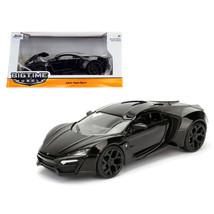 Lykan Hypersport Glossy Black 1/24 Diecast Model Cars by Jada 98074 - $32.30