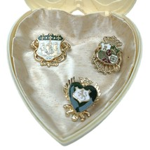 Vintage Lot Of Coro Enameled Military Coat Of Arms Pins - $44.54