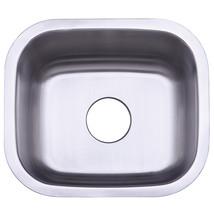 Gourmetier Loft GKUS16168 Undermount Single Bowl Bar Sink, Satin Nickel - $77.17
