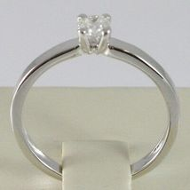 WHITE GOLD RING 750 18K, SOLITAIRE, STEM SQUARE, DIAMOND CARAT 0.27 image 3