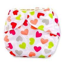 2 Pcs Love Shape Paw Leak Proof Breathable Waterproof Baby Infant Diaper