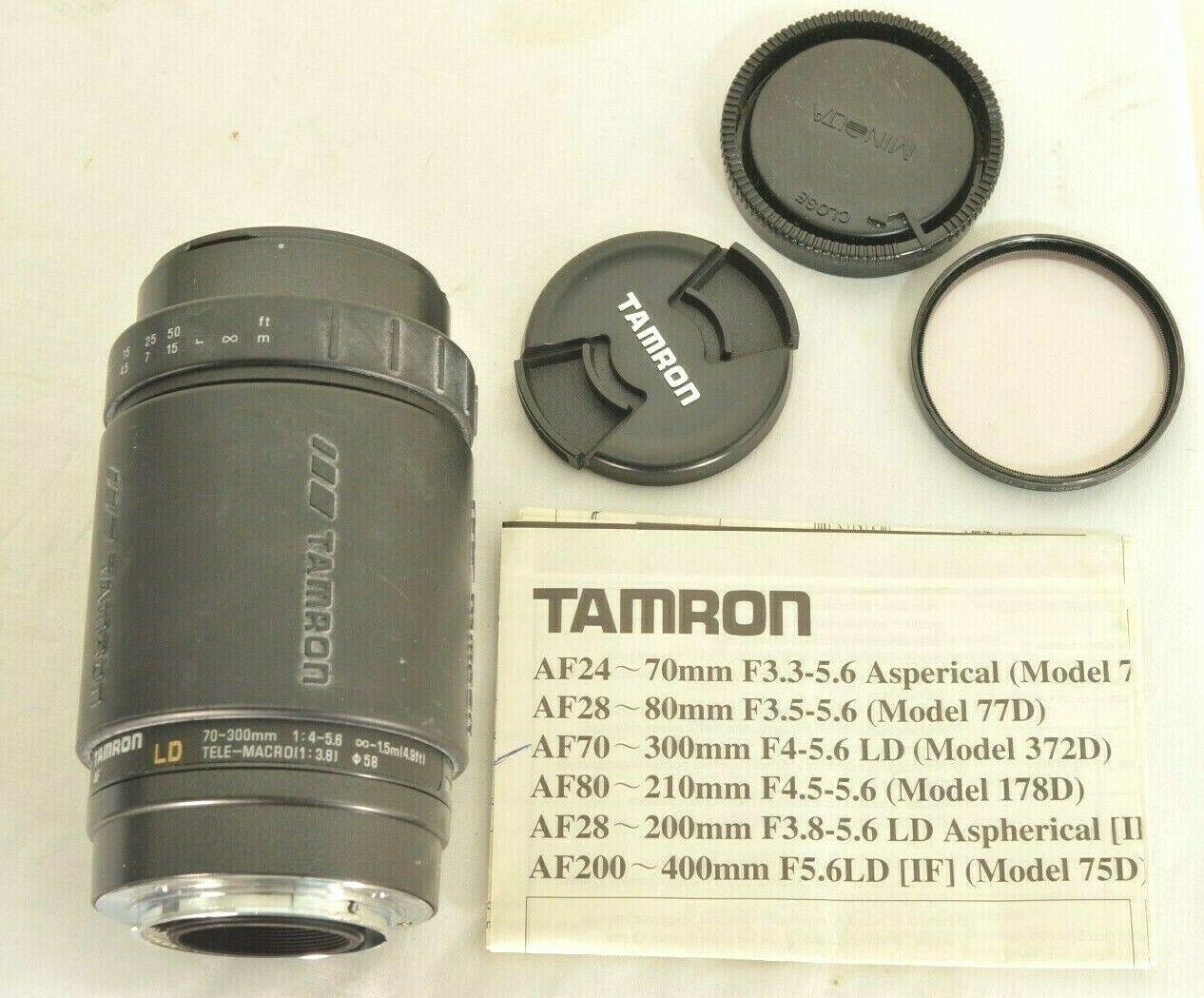 Tamron LD 70-300mm f/4.0-5.6 LD AF camera lens for Sony