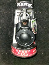 Master lock Speed Dial Resettable Combination 1500iD Directional Movement Black - $9.89