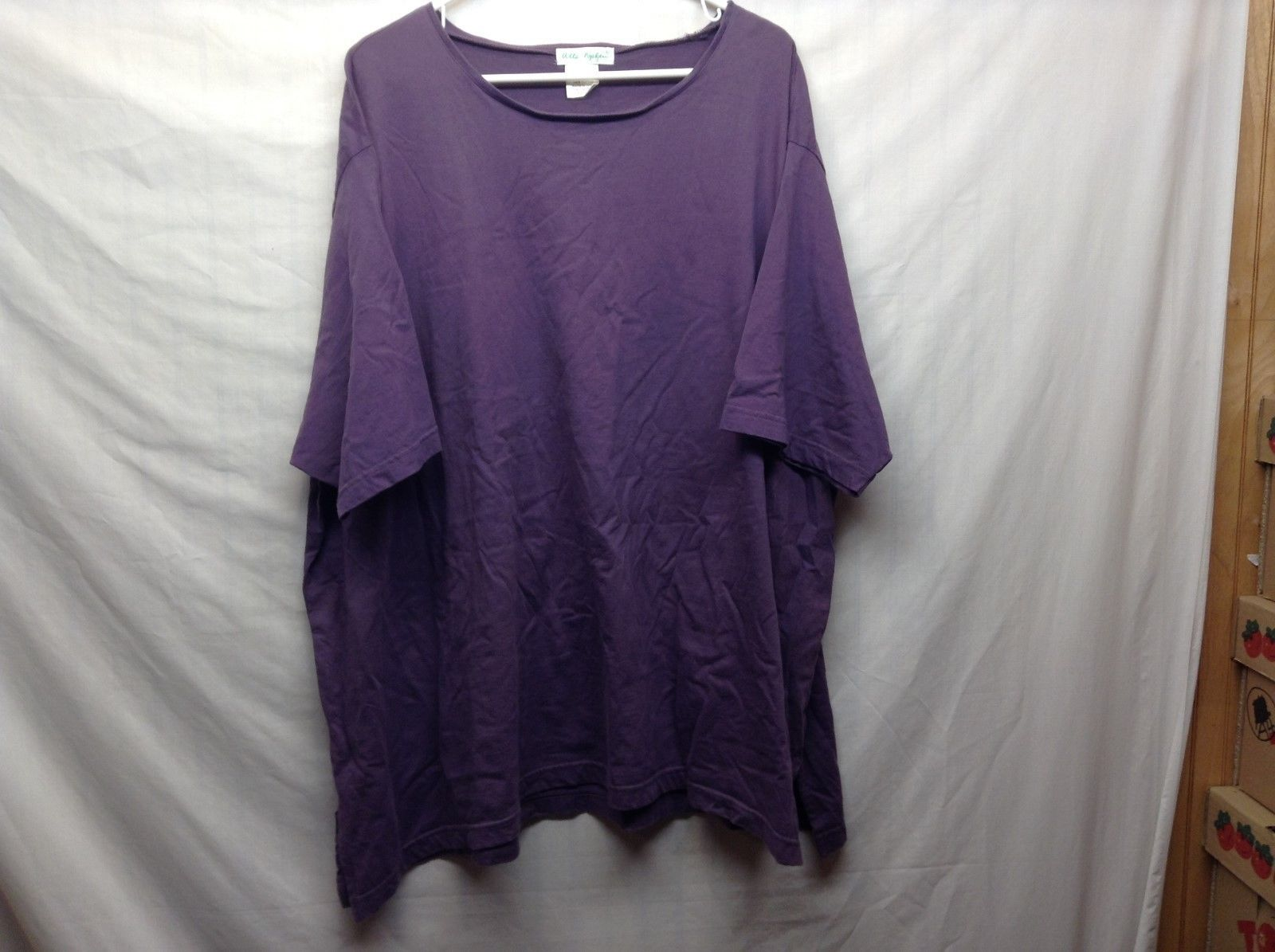 Ulla Popken Relaxed Fit Purple Shirt Sz 28/30