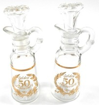 Anchor Hocking Set of 2 50th Anniversary Oil Cruets with Stoppers - $19.79