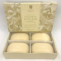 Scottish Fine Soaps Natural Essences Almond Vegetable 4 Bath Bars in Box... - $21.95