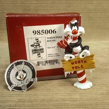 "Goebel Looney Tunes Porcelain 4.25"" Sylvester North Pole Bound Ornament ... - $23.09"