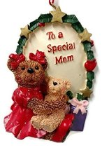Holly Bearie Ornament Special Mom - $17.50