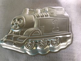 Vtg WILTON CAKE PAN  #2105-1349 Thomas The Train Aluminum China - $9.95