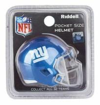 NFL New York Giants Helmet Riddell Pocket Pro SPEED Style Mini Team helmet image 1