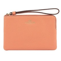 NWT COACH Corner Zip Wristlet Wallet Clutch Small Light Coral Gold F5803... - €32,11 EUR