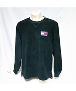 VTG 90s Tommy Hilfiger Fleece Sweatshirt Flag Patch Sailing Spell Out Sk... - $54.90