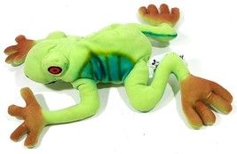 Disney Red Eye Tree Frog Bean Bag Plush Toy Multicolor - $10.88