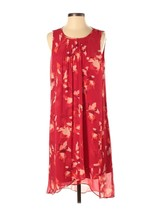 H By Halston Womens Red Floral Sleeveless Asymmetrical Shift Dress Size ... - $29.65