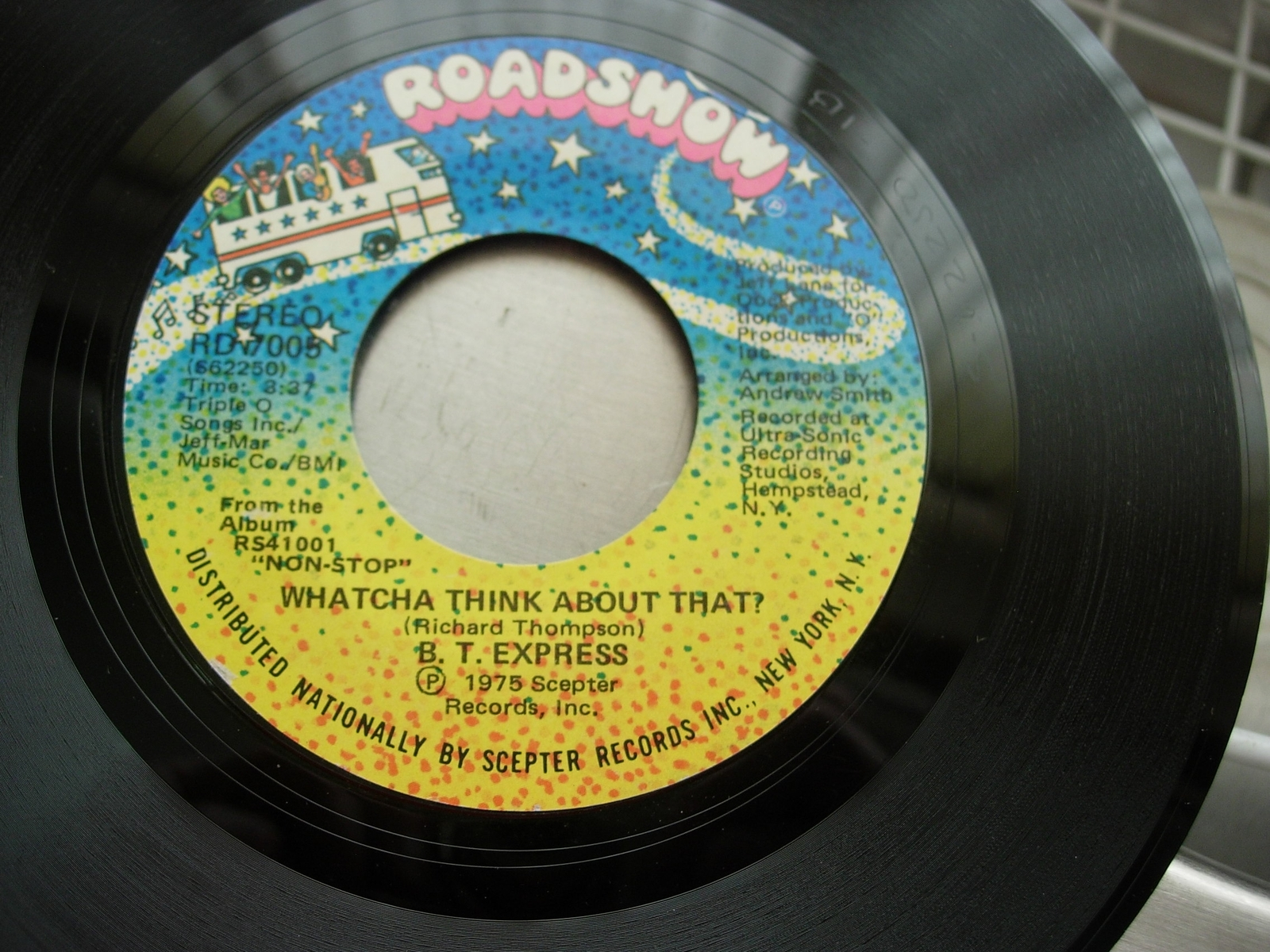 B. T. EXPRESS Close to You / Whatcha Think About That - Roadshow Records RD 7006