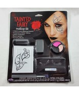 Halloween Tainted Fairy Makeup Kit Glitter Tattoo Eyelashes Lipstick Cos... - $8.99