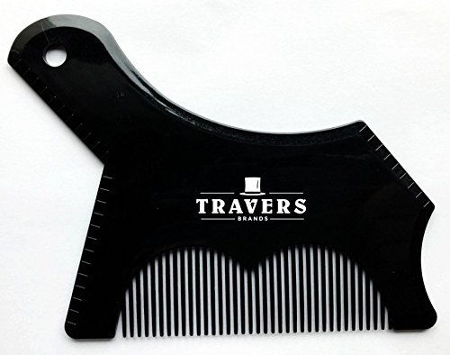 Travers Brands Beard Shaping Tool with Built-in Beard & Mustache Comb for Beard