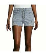 Ymi Women's Juniors High Rise Denim Shortie Shorts Size 11 Lt Acid Wash ... - $23.25