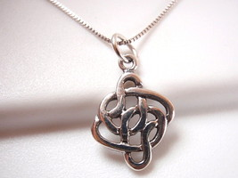 Small Celtic Weave Necklace 925 Sterling Silver Corona Sun Jewelry - $16.82